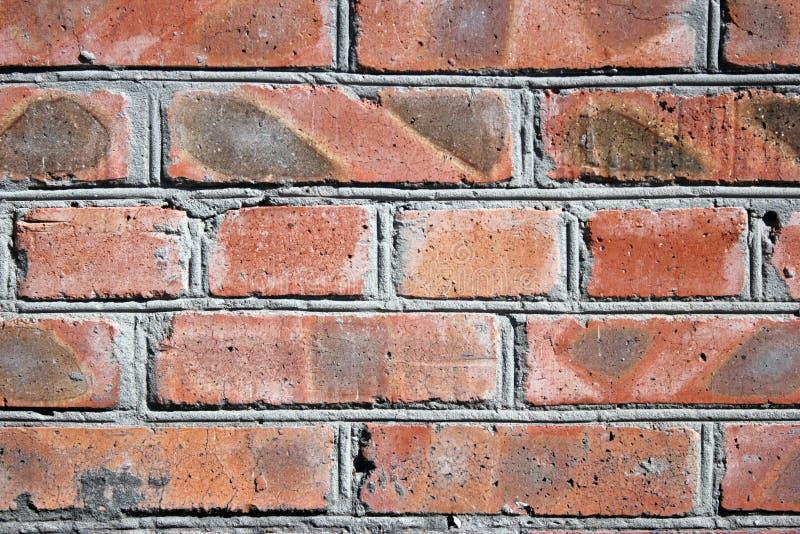 Openlucht, stedelijke architectuur, moderne rode bakstenen muur, stock afbeeldingen