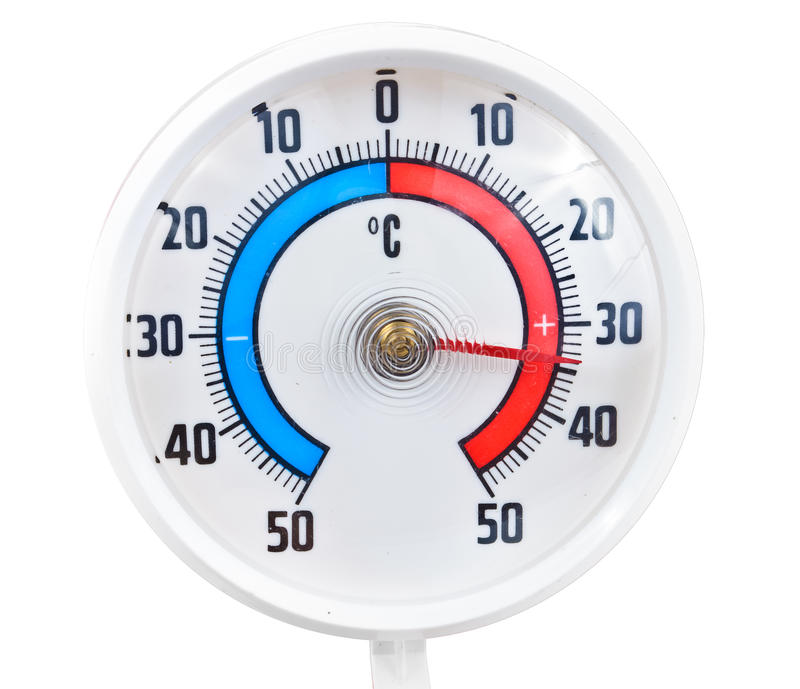 Openlucht thermometer stock fotografie