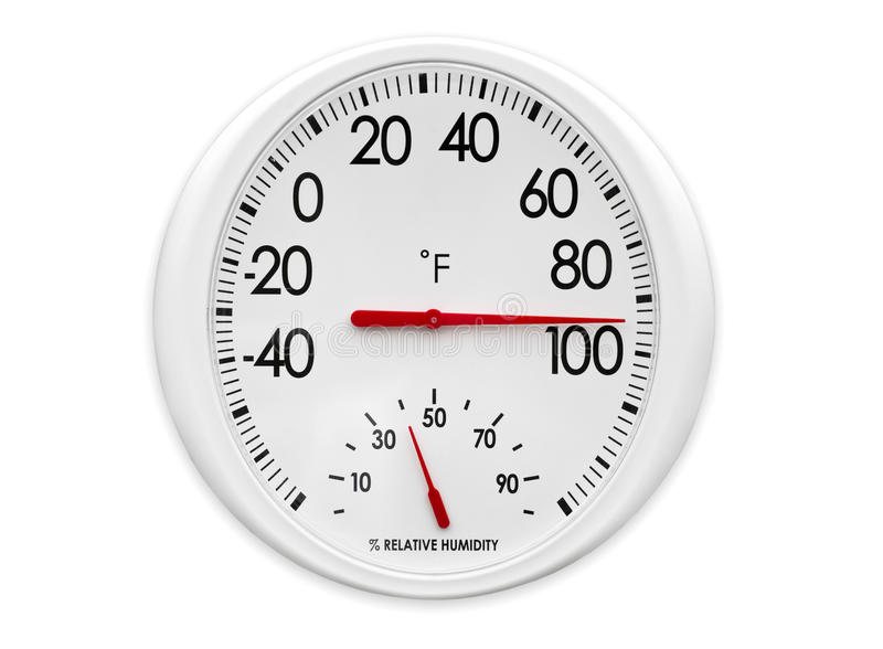 Openlucht Thermometer/Hygrometer stock afbeelding