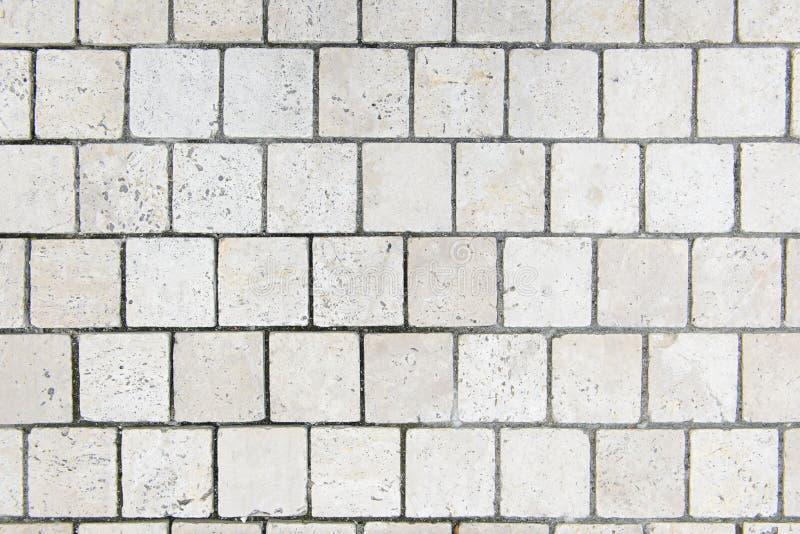 Openlucht witte de tegelpatroon en achtergrond van de steenvloer royalty-vrije stock foto