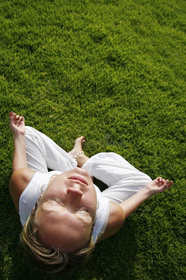 Openlucht Yoga stock foto