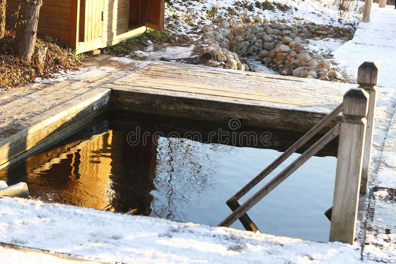 Openluchtbad, Rusinovo, Rusland royalty-vrije stock foto