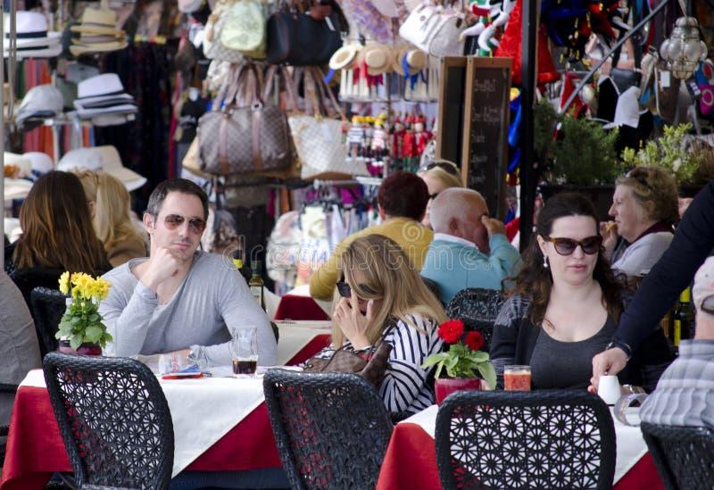Openluchtcaffeterras in Venetië royalty-vrije stock foto's