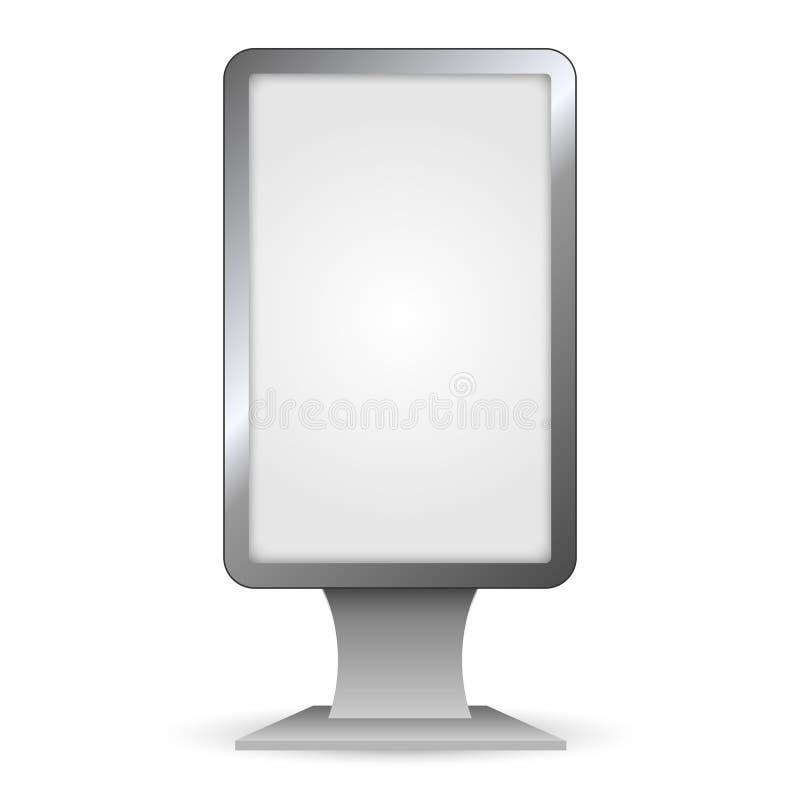 Openluchtlightbox royalty-vrije illustratie