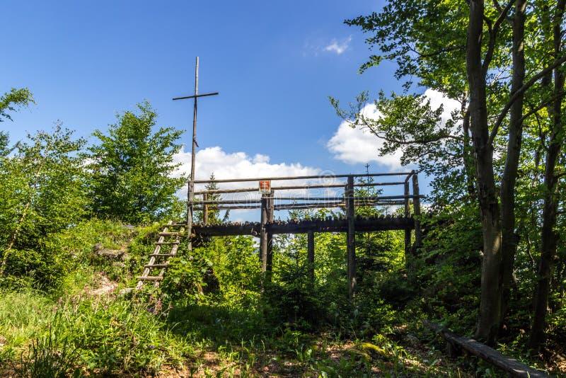 Openluchtmening in Slowaaks platteland royalty-vrije stock foto's