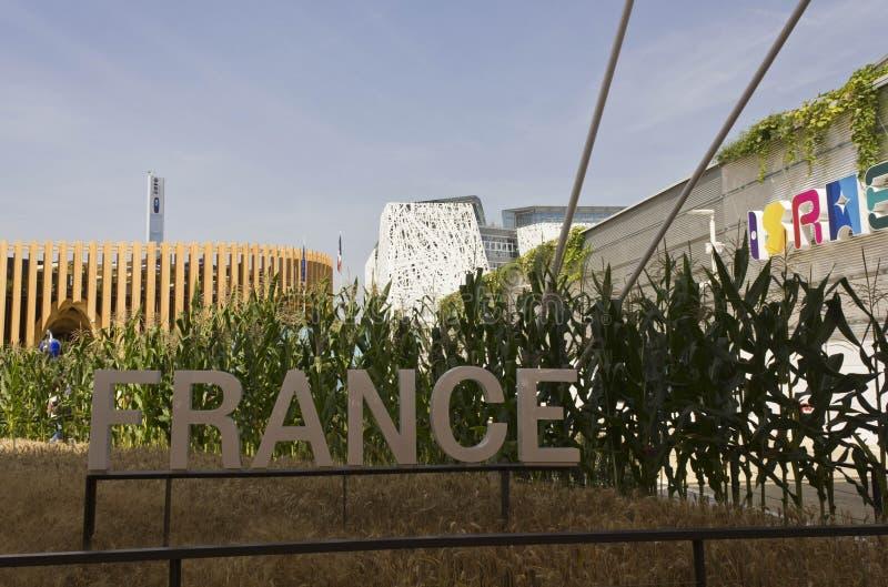 Openluchtmening van het Paviljoen van Frankrijk in Expo 2015 royalty-vrije stock afbeelding