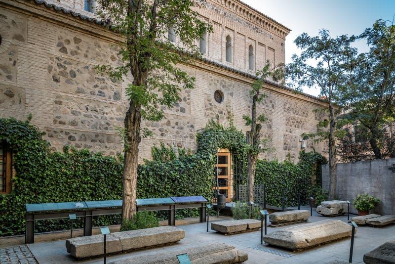 Openluchtmening van Synagoge van Transito in Toledo royalty-vrije stock afbeeldingen