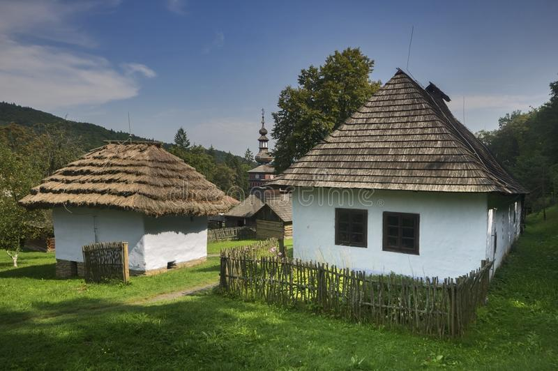 Openluchtmusem in Bardejov, Slowakije royalty-vrije stock foto's