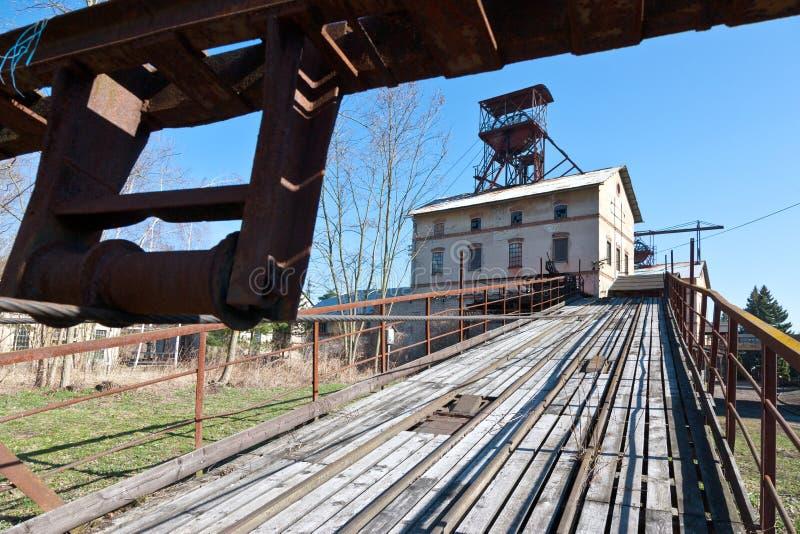 Openluchtmuseum, kolenmijn Mayrau, Vinarice, Kladno, Tsjechische repu stock foto