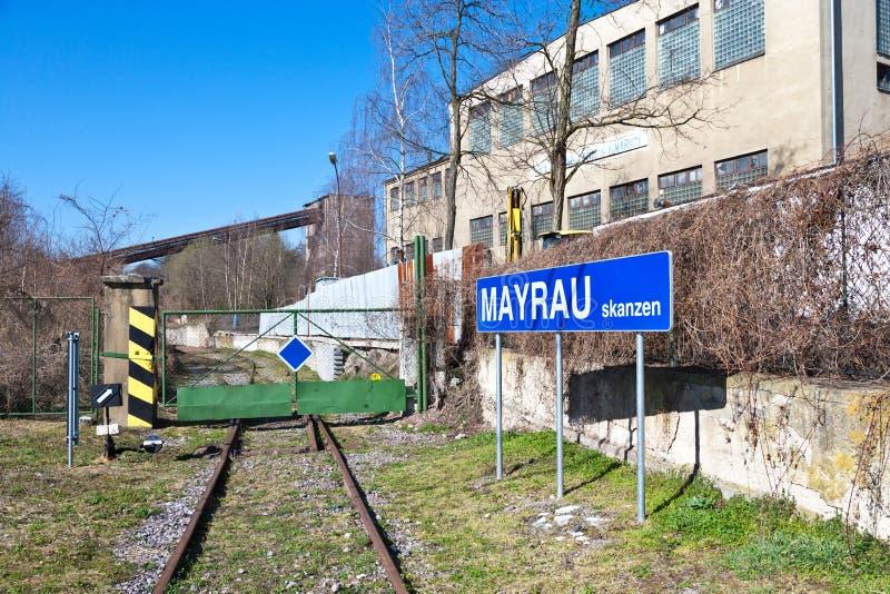 Openluchtmuseum, kolenmijn Mayrau, Vinarice, Kladno, Tsjechische repu stock afbeeldingen