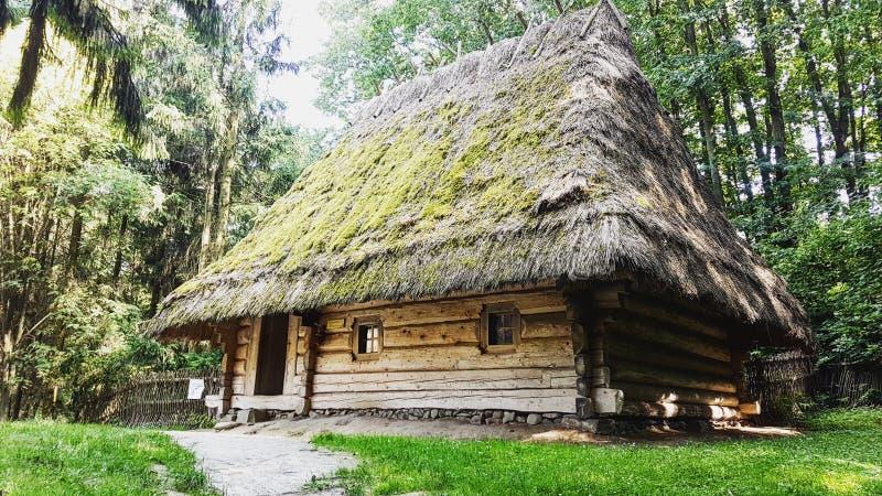 Openluchtmuseum van inheemse architectuur en strijd 'Shevchenkos' Haj' royalty-vrije stock fotografie