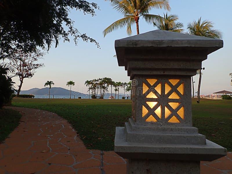 Openluchtverlichting voor huis en openluchtdecoratie stock foto