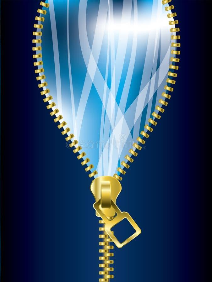 Openritsende koele blauwe achtergrond vector illustratie