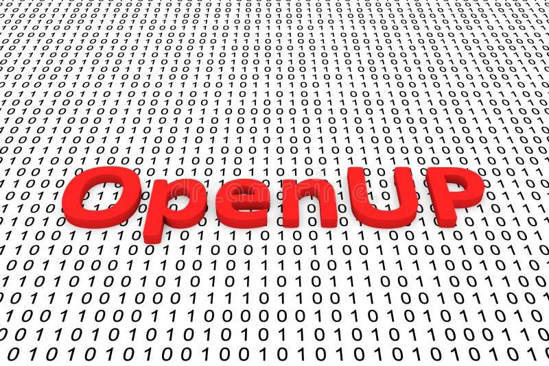 OpenUP ilustracja wektor