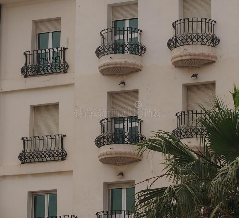Openwork balkonger arkivfoton