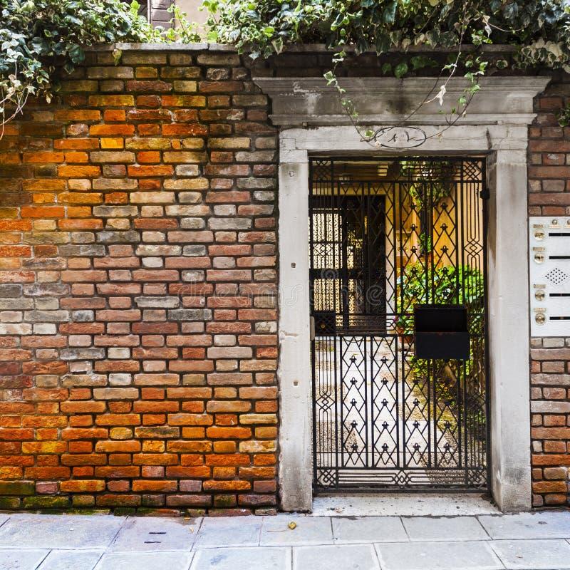 Openwork brama w Wenecja obraz royalty free