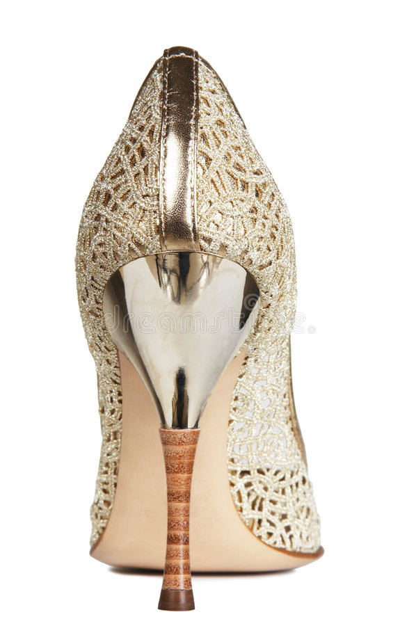 Openwork female shoes stock photo