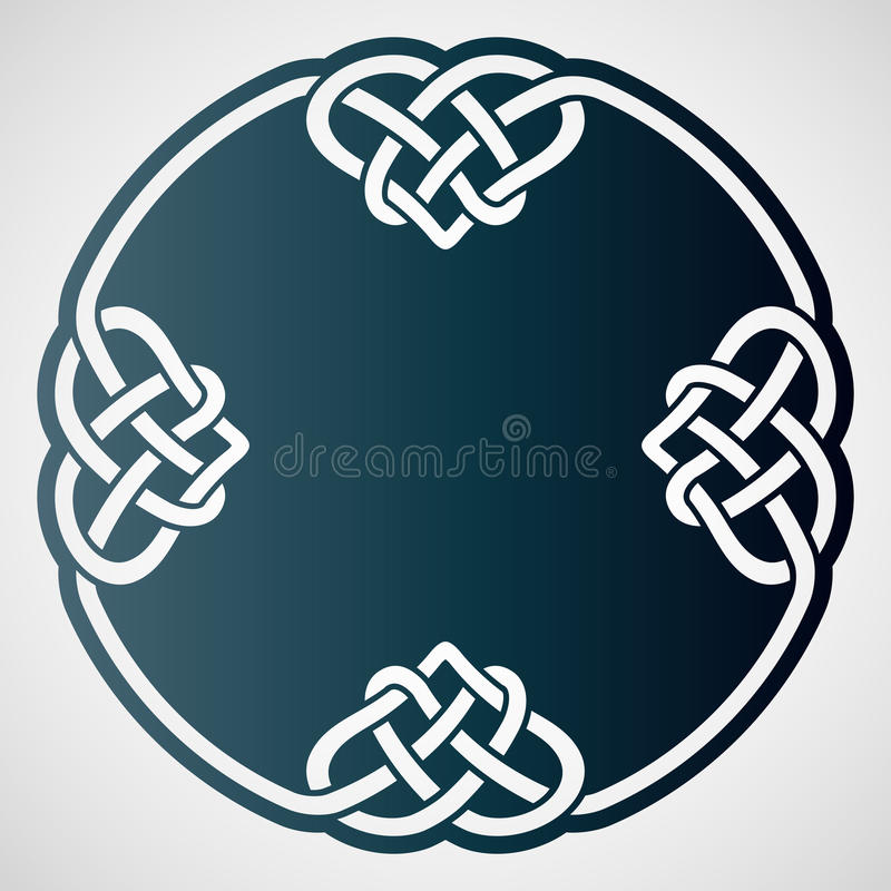 Openwork rund beståndsdel med celtic motiv stock illustrationer