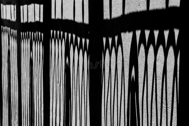 Openwork shadow in the city royalty free stock photo