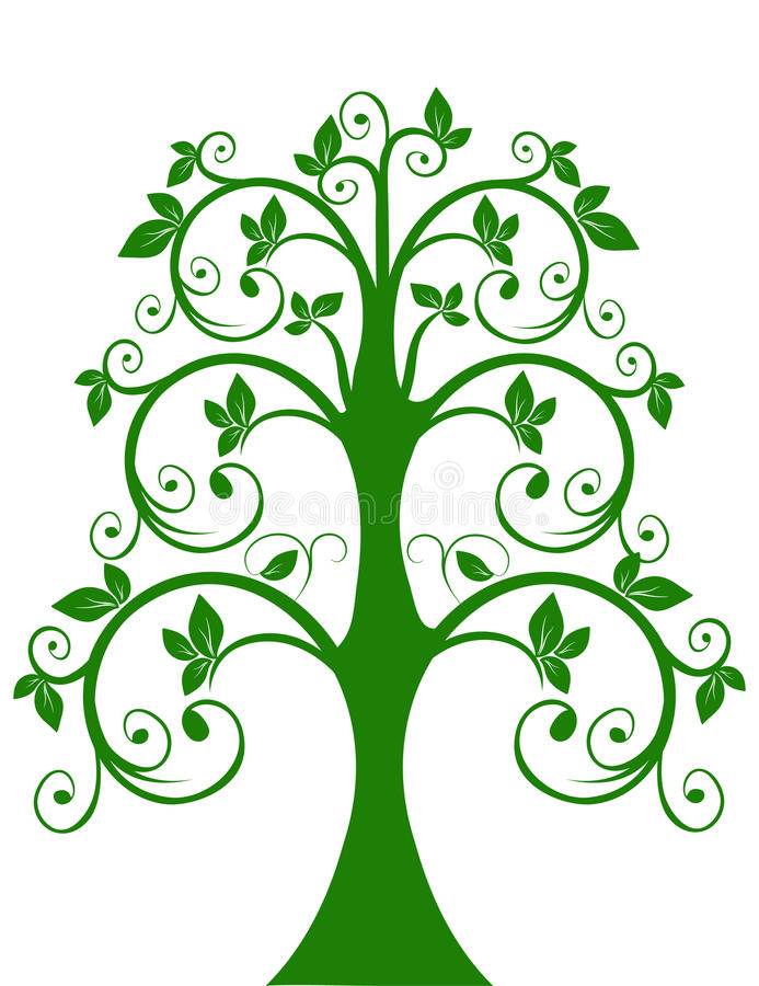 The openwork tree stock illustration