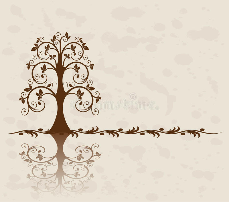 Openwork tree vector illustration