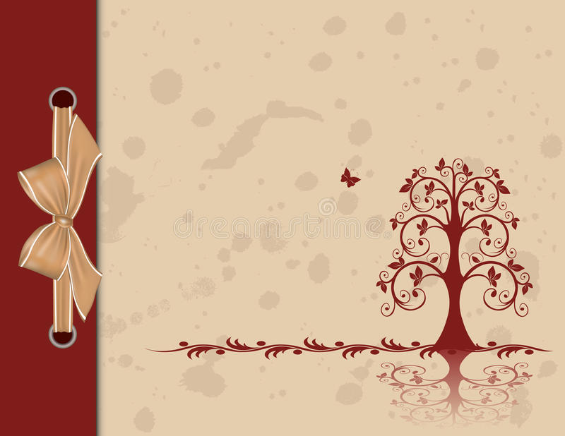 Openwork tree stock illustration