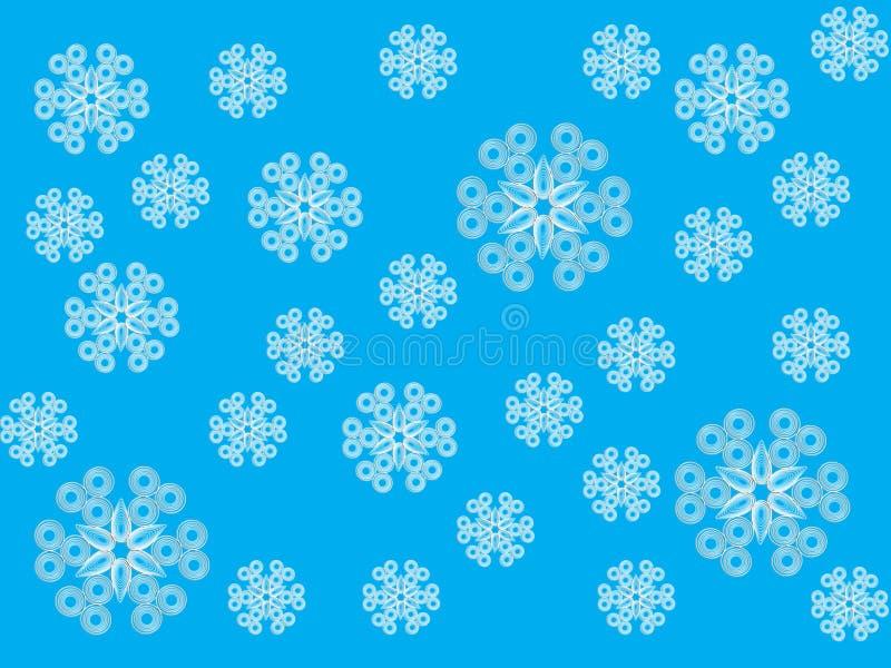Openwork vita snöflingor för försiktig textur Fragment i stilen av quilling ю vektor illustrationer