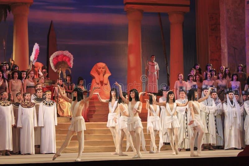 Oper Aida. Fragment stockfotografie
