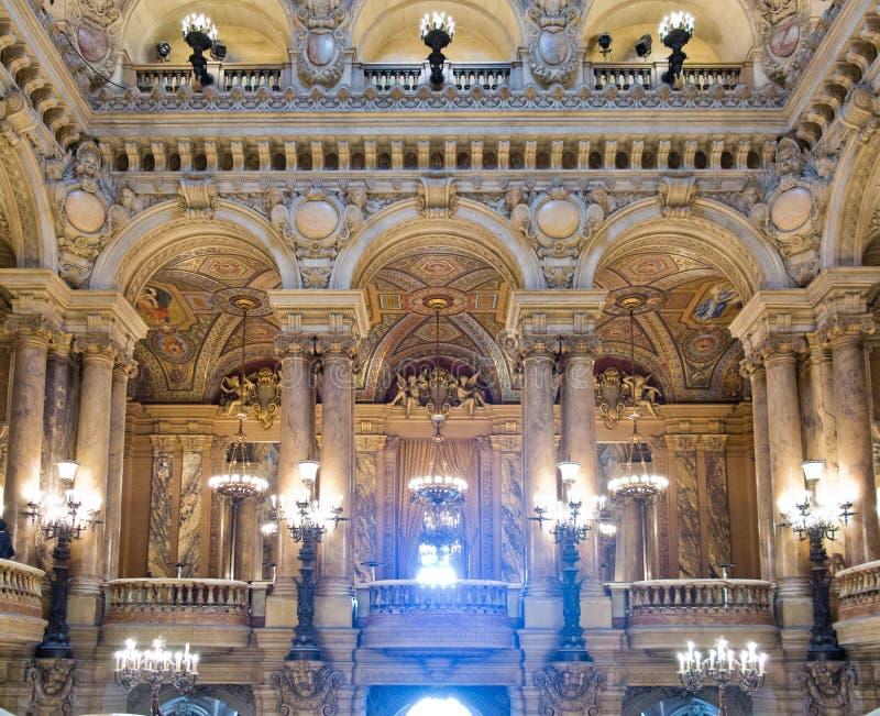 Oper Garnier-Innenraum lizenzfreies stockfoto