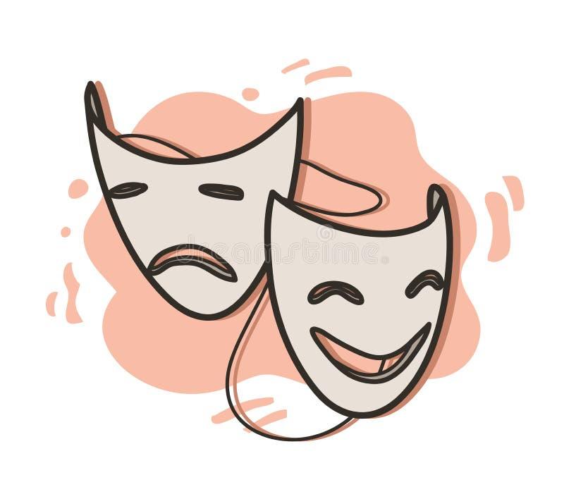 Oper maski ilustracji