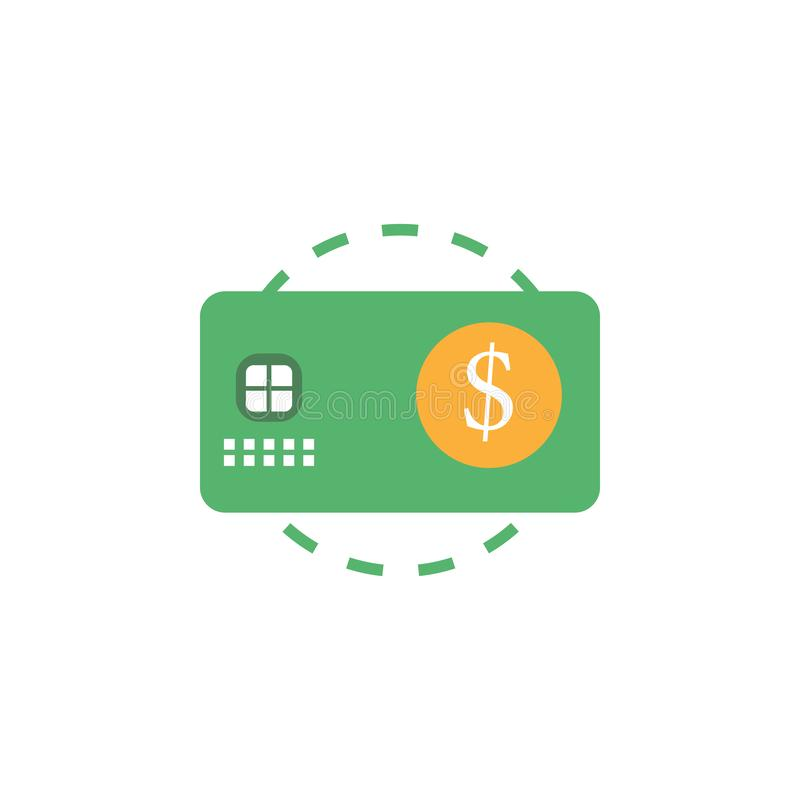 Operação bancária, ícone dos cartões de crédito Elemento do ícone do dinheiro e da operação bancária da Web para apps móveis do c ilustração stock
