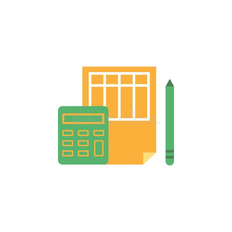 Operação bancária, ícone explicando Elemento do ícone do dinheiro e da operação bancária da Web para apps móveis do conceito e da ilustração royalty free
