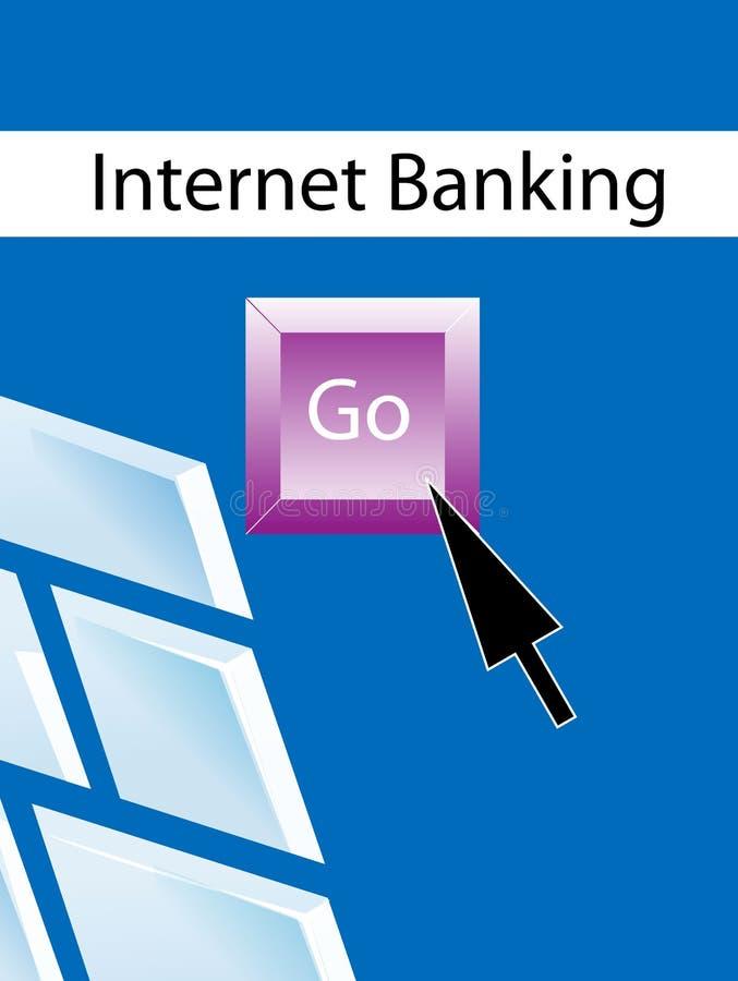 operação bancária do Internet   ilustração royalty free