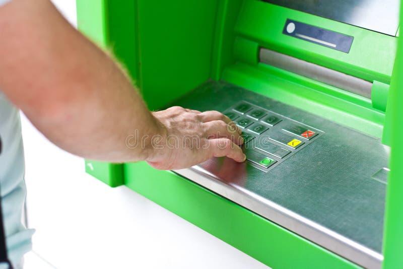 Operação bancária eletrônica, ATM fotos de stock royalty free