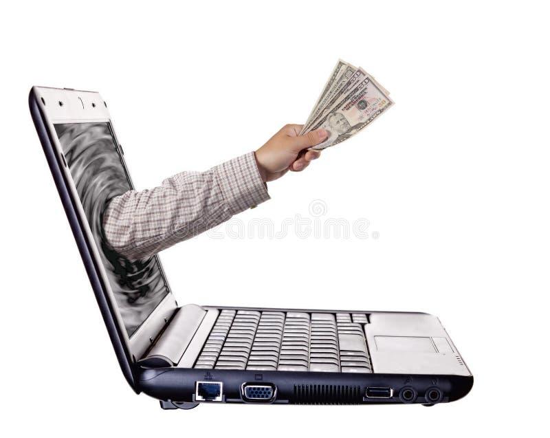 Operação bancária em linha foto de stock royalty free