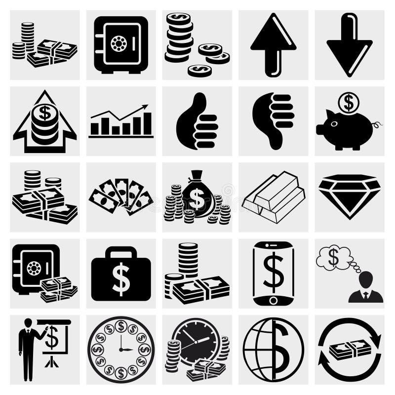 Operação bancária, negócio, finança e recursos humanos ajustados ilustração stock