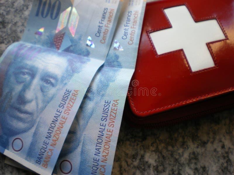 Operação bancária suíça do dinheiro suíço fotos de stock royalty free