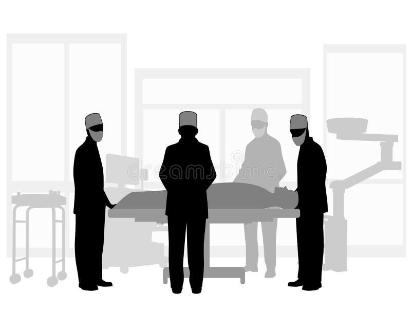 Operação cirúrgica ilustração royalty free