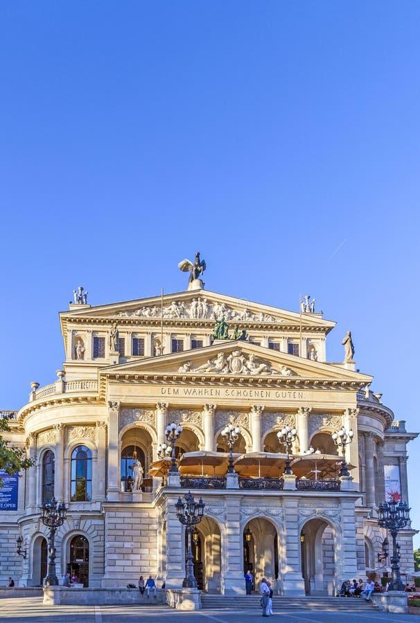 Operação de Alte em Francoforte fotografia de stock royalty free