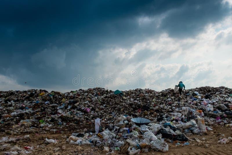 Operação de descarga em Tailândia fotografia de stock