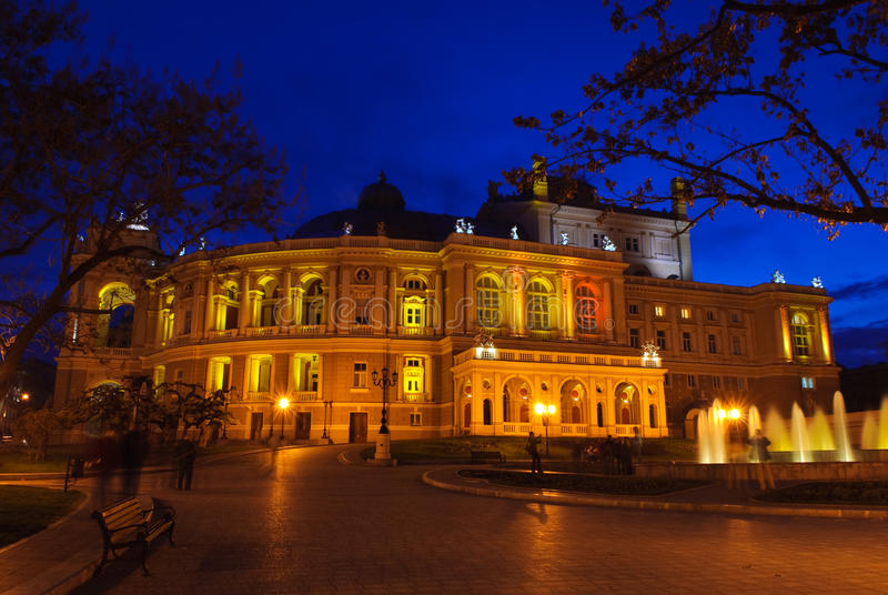 Download Opera And Ballet Theater Exterior At Night Stock Image - Image: 14903765
