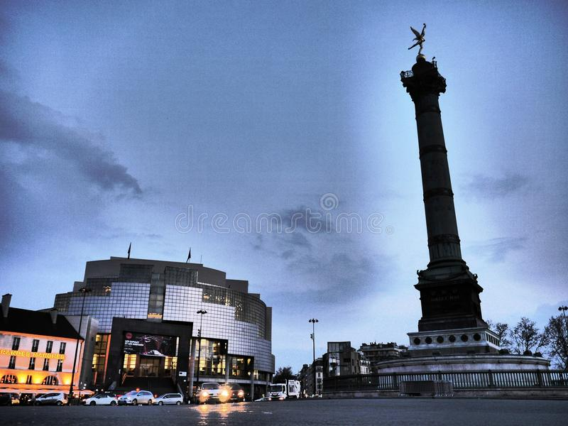 Opera Bastille Parijs stock fotografie