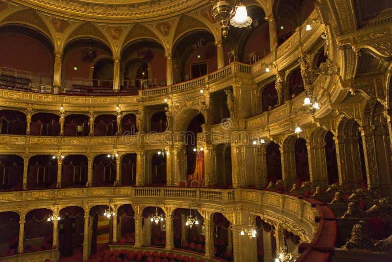 Opera Budapest fotografering för bildbyråer
