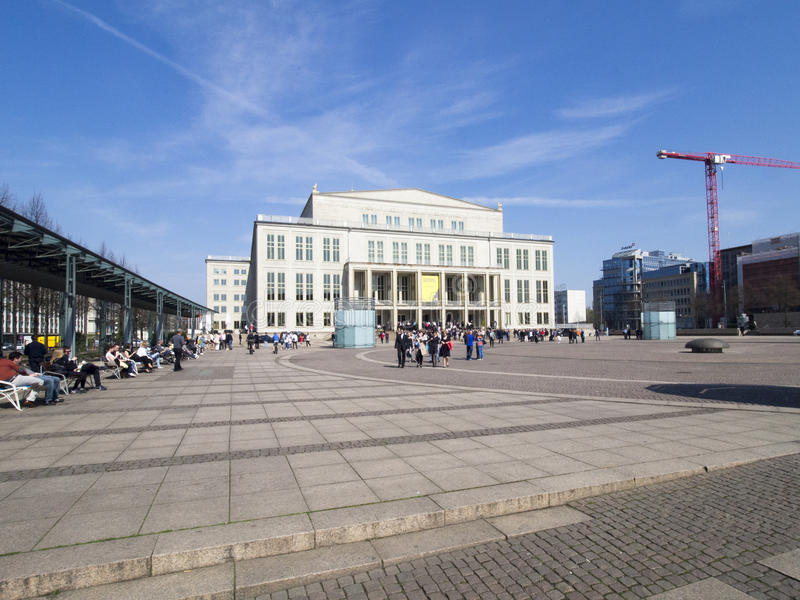 Opera building in Leipzig, Germany royalty free stock photo