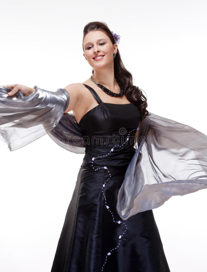 Opera Cantante Performing immagine stock