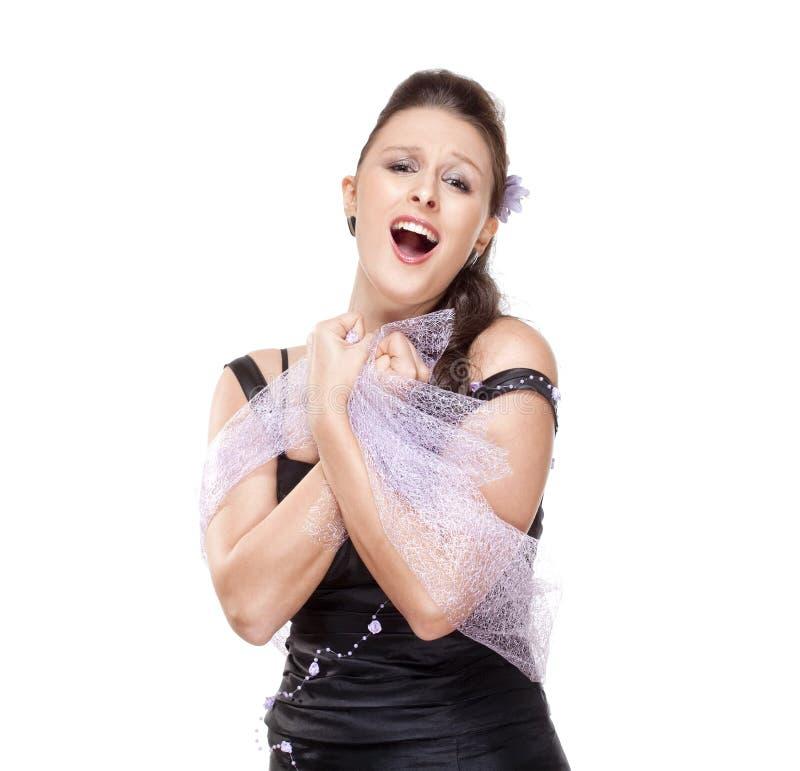 Opera Cantante Performing fotografia stock libera da diritti