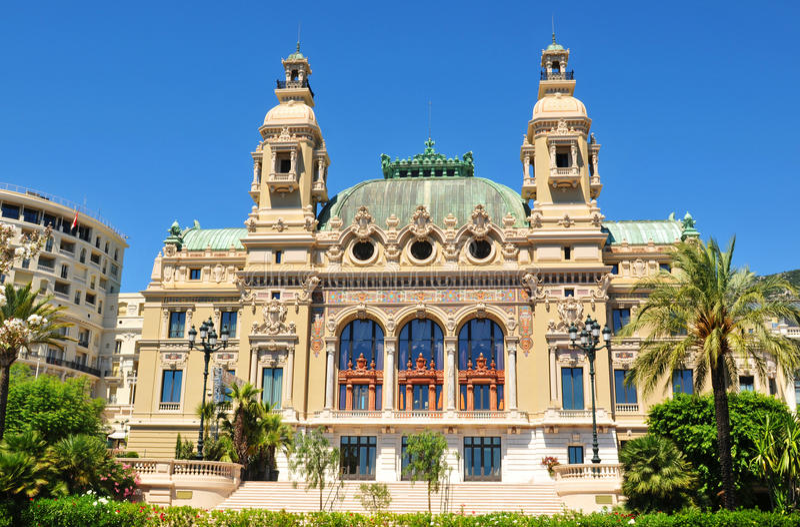 Opera de Monte Carlo fotografia de stock royalty free