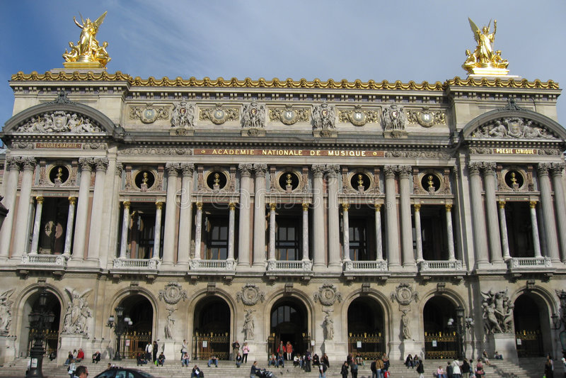 Opera DE Parijs Garnier stock foto's