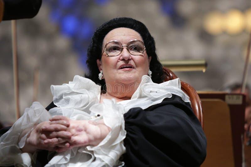 Opera di Montserrat Caballe fotografia stock libera da diritti