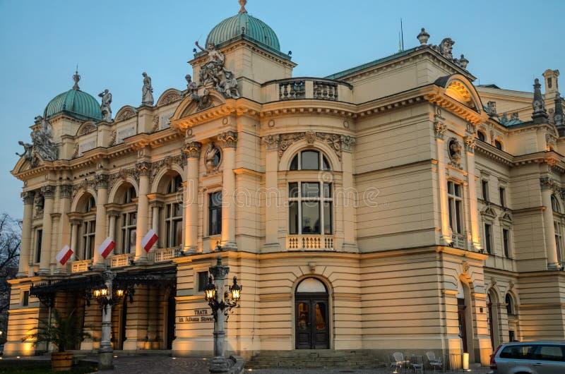 Opera e teatro de bailado em Krakow, Polônia imagens de stock royalty free